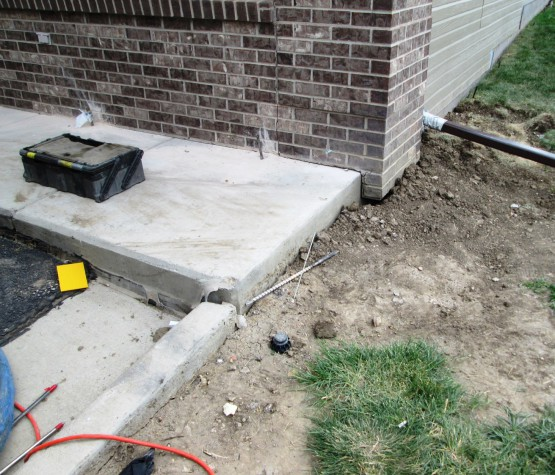 Dental Office Curb and Gutter Lift and Realignment
