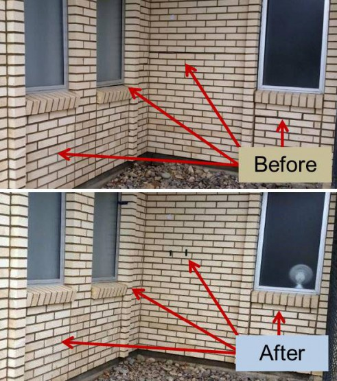 LDS Wall Cracks Before After